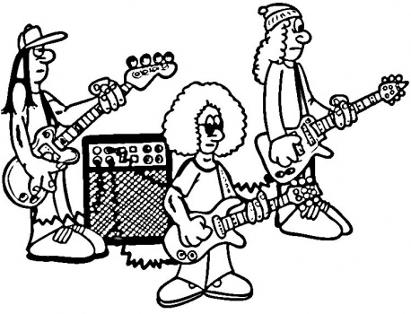 Rock bands on the sunny side for Band coloring pages